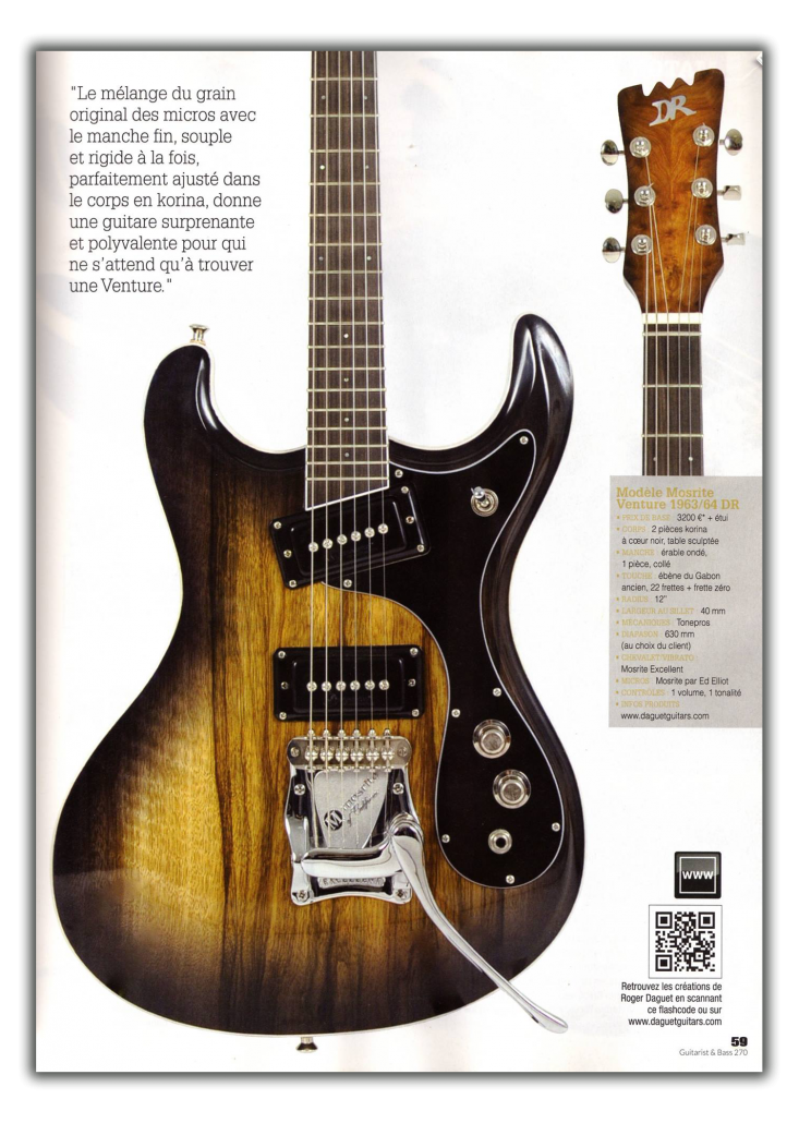 Daguet Guitars dans Guitarist & Bass Magazine - page 2