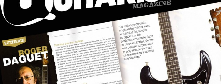 Nouvel article dans Guitarist & Bass Magazine