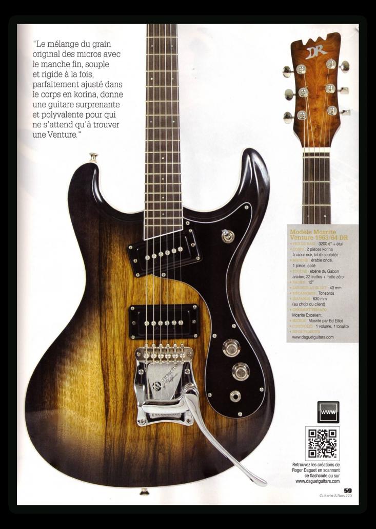Daguet Guitars dans Guitarist & Bass Magazine - page 2
